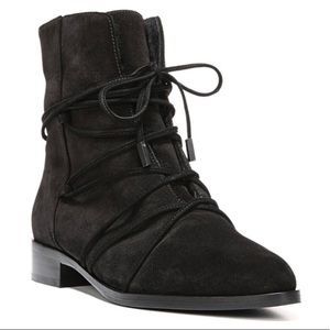 Diane Vin Furgesten Blk JAYENA Suade Lace-up Boot